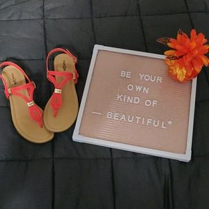 East 5th coral sandal